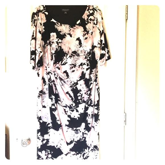 Connected Apparel Dresses Faux Wrap Dress Plus Size 24w Poshmark